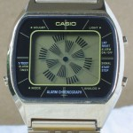 photo of casio-blue-thunder-gold-a201g front view 2