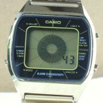 photo of casio-blue-thunder-gold-a201g front view 3