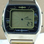 photo of casio-blue-thunder-gold-a201g front view 4