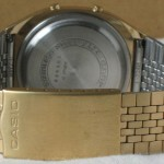 photo of casio-blue-thunder-gold-a201g band view