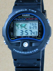 photo of vintage-casio-world-time-thermometer-ts-100 front view sm