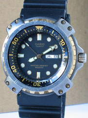 photo of vintage-casio-MD-703-diver-watch front view sm