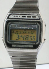 photo of vintage-casio-melody-H105 front view sm