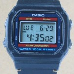 photo of vintage casio-Lithium-W-700 front view