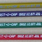vintage plast-o-cap oversized ferrule pencils 2