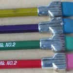 vintage plast-o-cap oversized ferrule pencils 3