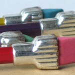 vintage plast-o-cap oversized ferrule pencils 4