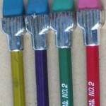 vintage plast-o-cap oversized ferrule pencils 3 sm
