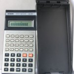 photo of vintage-casio-scientific-calculator-fx-100c both view