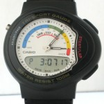 photo of nos vintage casio-tri-sport-gauge-tri-20w front view