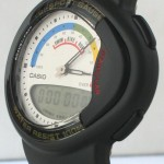 photo of nos vintage casio-tri-sport-gauge-tri-20w side view 1