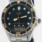 photo of Nos vintage ladies Alba dive digital/analog watch front view