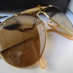 photo of NOS Ray-Ban 50th anniversary sunglasses 62mm. front view 1