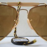 photo of NOS Ray-Ban 50th anniversary sunglasses 62mm. deatil view 5