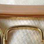 photo of NOS Ray-Ban 50th anniversary sunglasses 62mm. deatil view 7