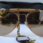 photo of NOS Ray-Ban 50th anniversary sunglasses 62mm. front view 2