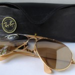 photo of NOS Ray-Ban 50th anniversary sunglasses 62mm. front view 3