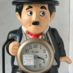 photo of Nos vintage rhythm-speak-up-alarm-clock-charlie-chaplin front view sm