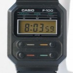 photo of vintage casio-f-100 front view