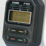photo of vintage casio-f-100 side view 1