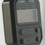 photo of vintage casio-f-100 side view 2