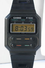 photo of vintage casio-f-100 front view sm