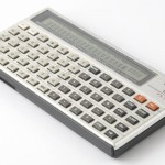 Photo of vintage casio-FX-702P-calculator side view 1
