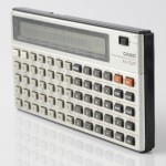 Photo of vintage casio-FX-702P-calculator side view 2