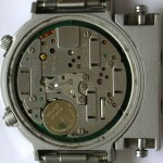 photo of seiko-chronograph-7A28-7000-Alien movement view
