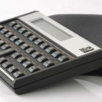 photo of vintage-hp-hewlett-packard-15c-calculator side view