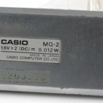 photo of vintage-casio-calculator MQ-2 back view