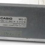 photo of vintage-casio-calculator MQ-2 back view