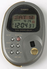 photo of nos-casio-blood-pressure-monitor-hbp-500 front view sm