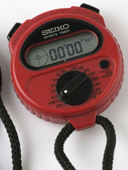photo of seiko sports timer/game timer s321 stopwatch front view sm