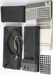 photo of casio-fx-702p-calculator-fa-2-cassette-interface 13