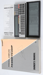 photo of vintage-casio-fx-880p-calculator-manual sm