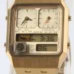 photo of-vintage-citizen-ana/digi-temp-gold-8980 front view