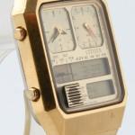 photo of-vintage-citizen-ana/digi-temp-gold-8980 side view 2