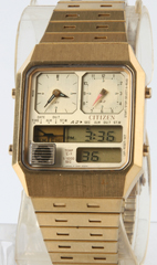 photo of-vintage-citizen-ana/digi-temp-gold-8980 front view sm
