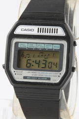 photo of vintage-casio-melody-alarm-82h108-blue-dial front view sm