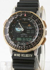 photo of citizen-wingman-8945-gold-analog/digital front view sm