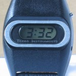 photo of vintage-texas-instruments-digital-watch-space-age-look front view