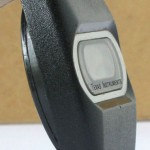 photo of vintage-texas-instruments-digital-watch-space-age-look side view 2