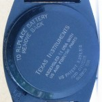 photo of vintage-texas-instruments-digital-watch-space-age-look back view