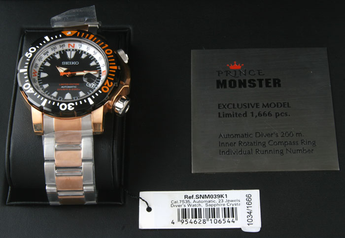 Nos Seiko Prince Monster 7s35 00g0 Rose Gold