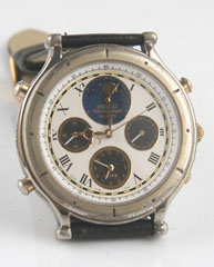 photo of-seiko-7T36-7A10-Age-of-Discovery-moon-phase front view sm